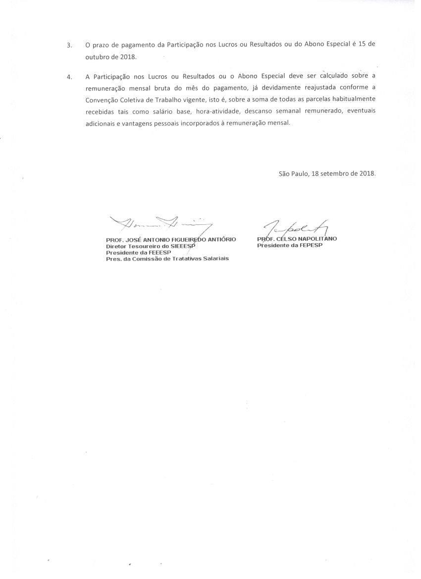 COMUNICADO CONJUNTO SIEEESP-FEPESP-SINPROVALES 002-2018 PLR