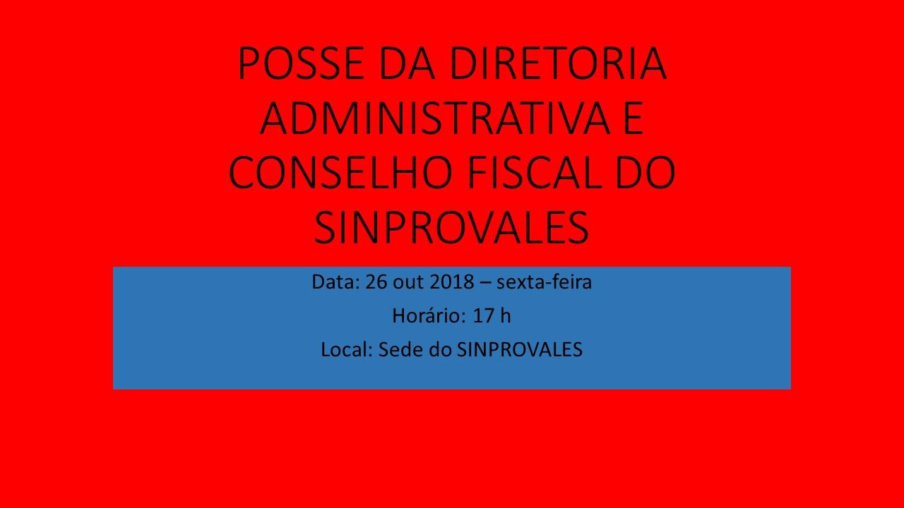 POSSE DIRETORIA E CONSELHO FISCAL 2018-2021