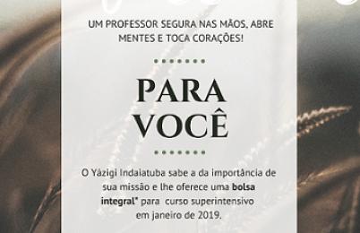 DIA DOS PROFESSORES - PARCERIA YÁZIGI - ASSOCIADOS SINPROVALES