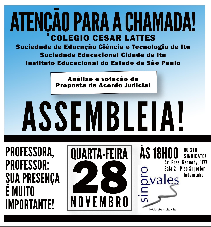 ASSEMBLEIA DOS PROFESSORES DA UNIESP