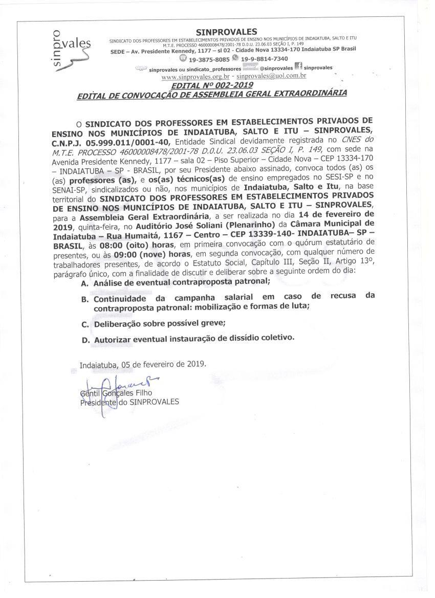 ASSEMBLEIA DOS PROFESSORES DO SISTEMA S