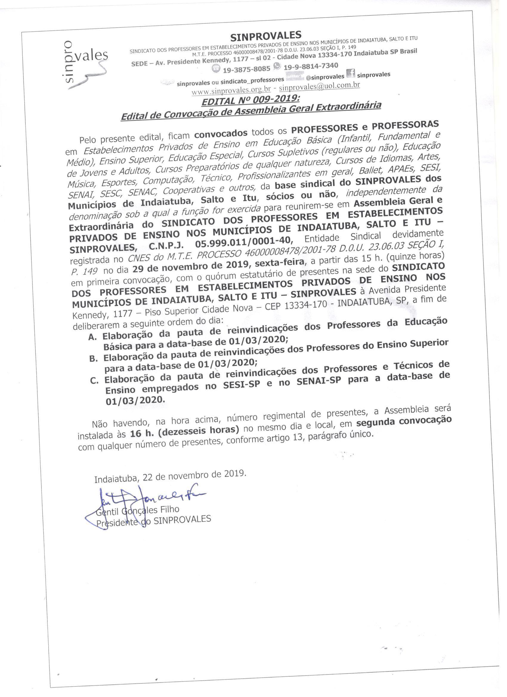PAUTA DE REIVINDICAÇÕES DA EDUCAÇÃO BÁSICA, ENSINO SUPERIOR E SISTEMA S