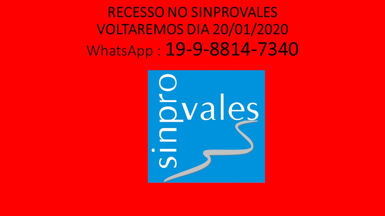 WhatsApp do SINPROVALES: 19-9-8814-7340