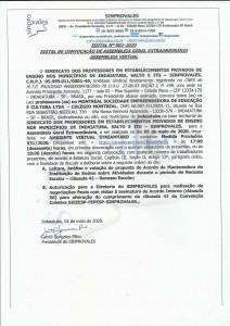 ASSEMBLEIA DOS PROFESSORES DO COLÉGIO MONTREAL